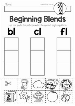 Beginning Blends and Digraphs Mats and Worksheets | Word work ...