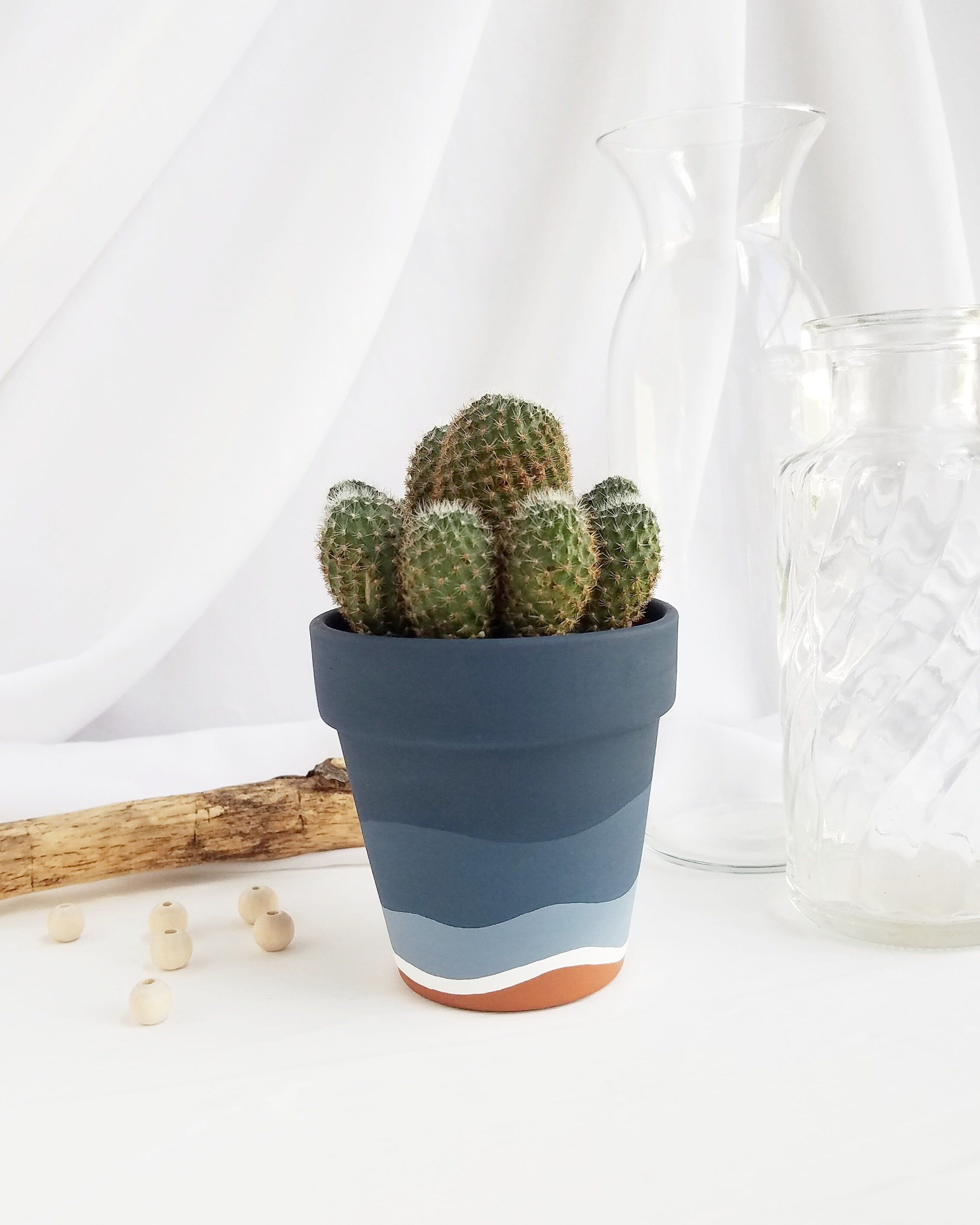 Navy Ombre Pot — Franky and J. Designs