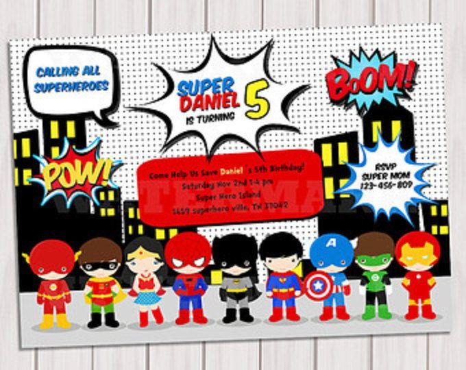 Super Fiesta De Cumpleaños Del Héroe Arte Pop Arte
