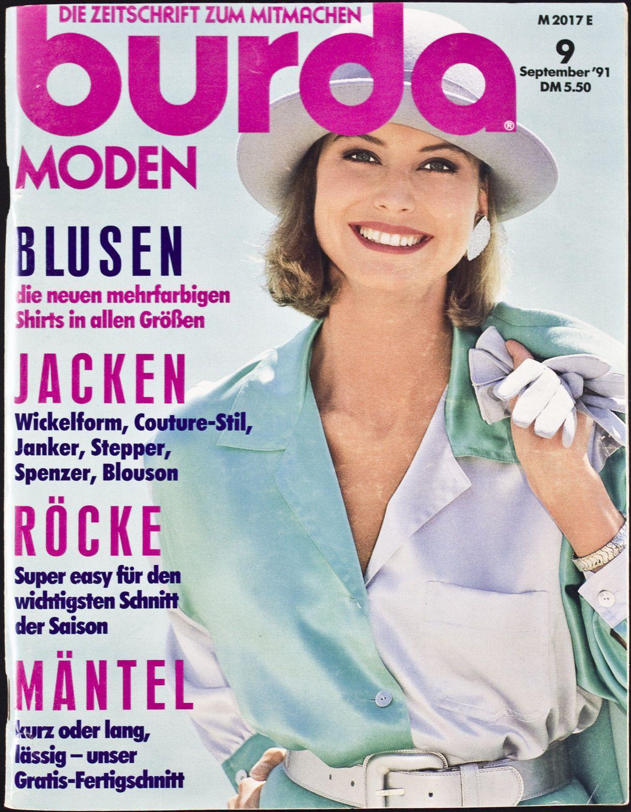 Burda Moden 09.1991 in Libros, revistas y cómics, Revistas, Moda y estilo de vida   eBay