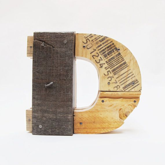"Industrial Letters Wall Hanging Wooden Letters ""d""industrial Letterswall Hanging Initals"