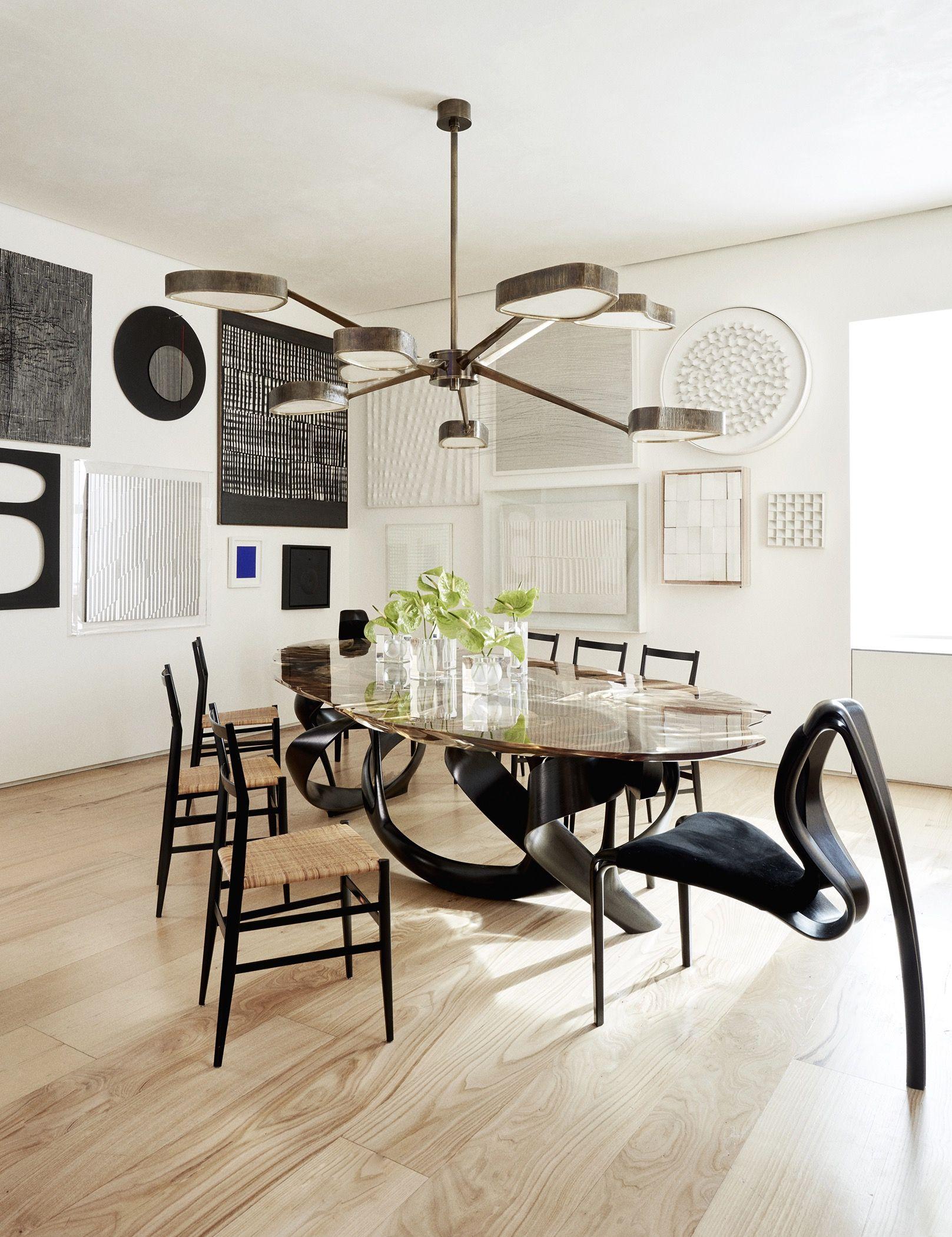 Modern hallway furniture ideas  Park Avenue Triplex  an inspiring art and design collections by Amy