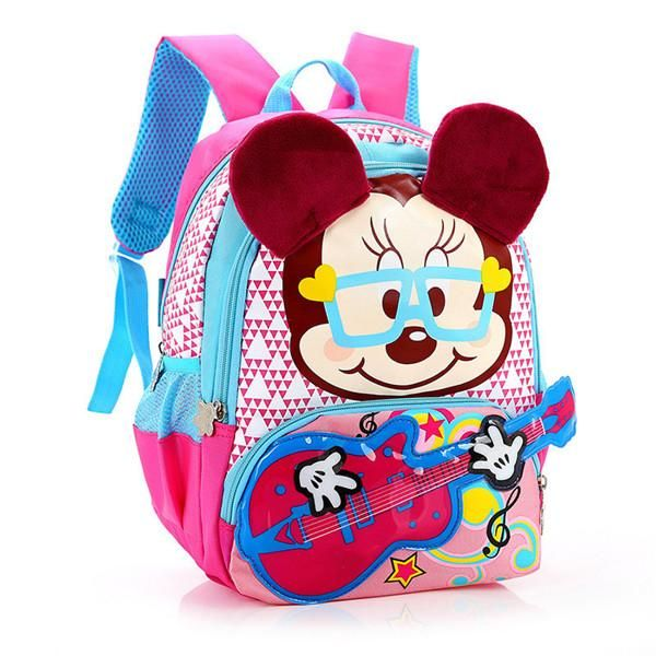 15717c1a5994 Kindergarten Children Cartoon Mickey School Bags 2017 Kids Minnie Backpack  Waterproof Schoolbags Satchel for boys and girls