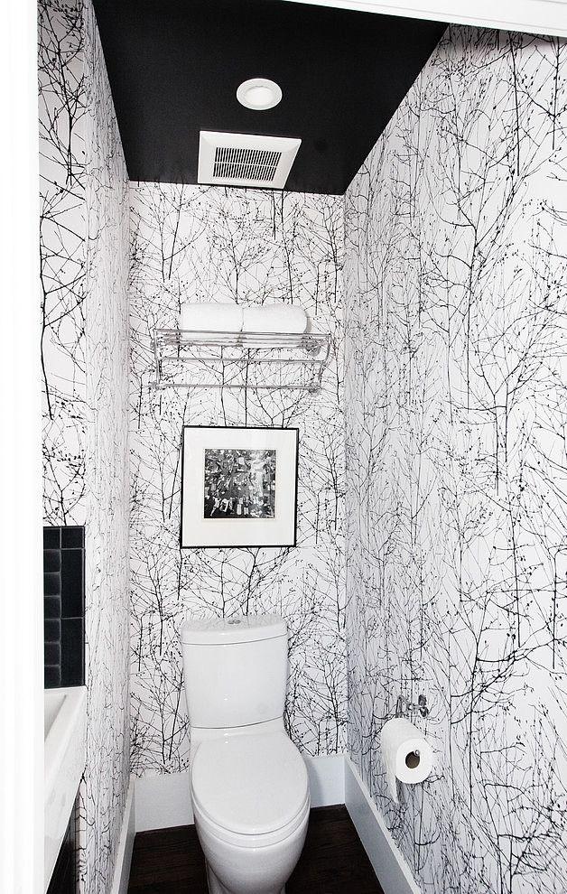 Modern Rustic Home By Regan Baker Design Homeadore Modern Powder Rooms Small Bathroom Wallpaper Powder Room Wallpaper