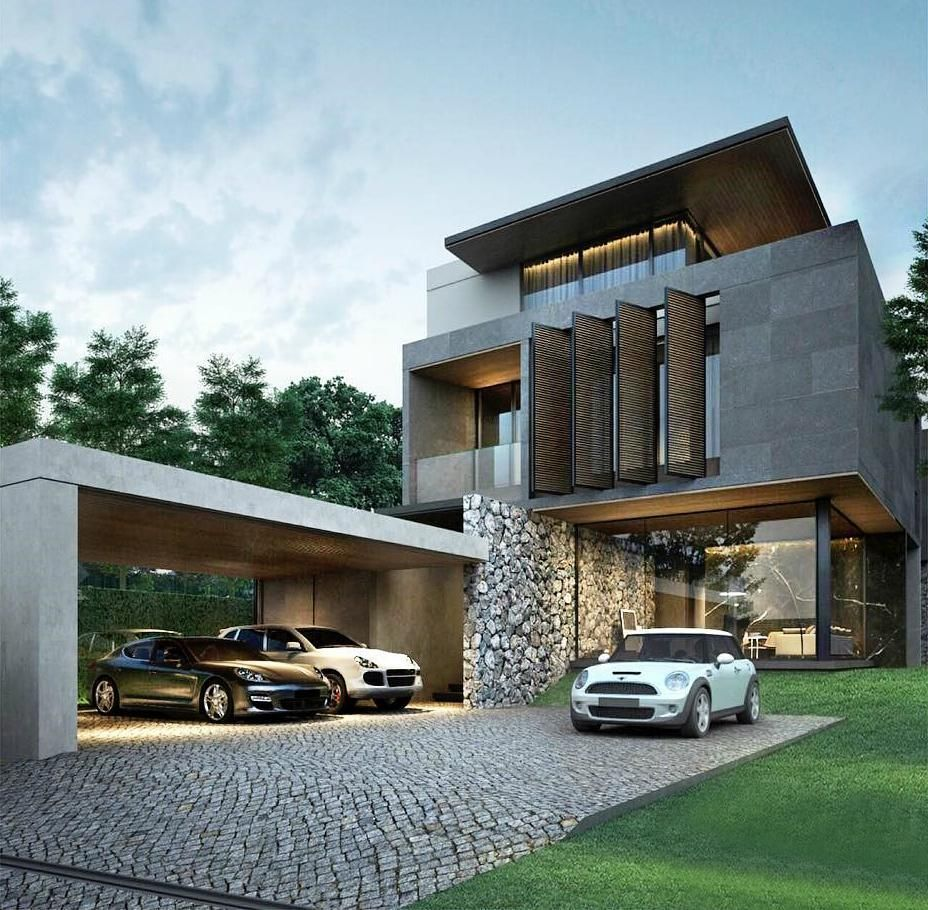 Amazing Garage Designs: Pin By Mohamed O On Modern Villas