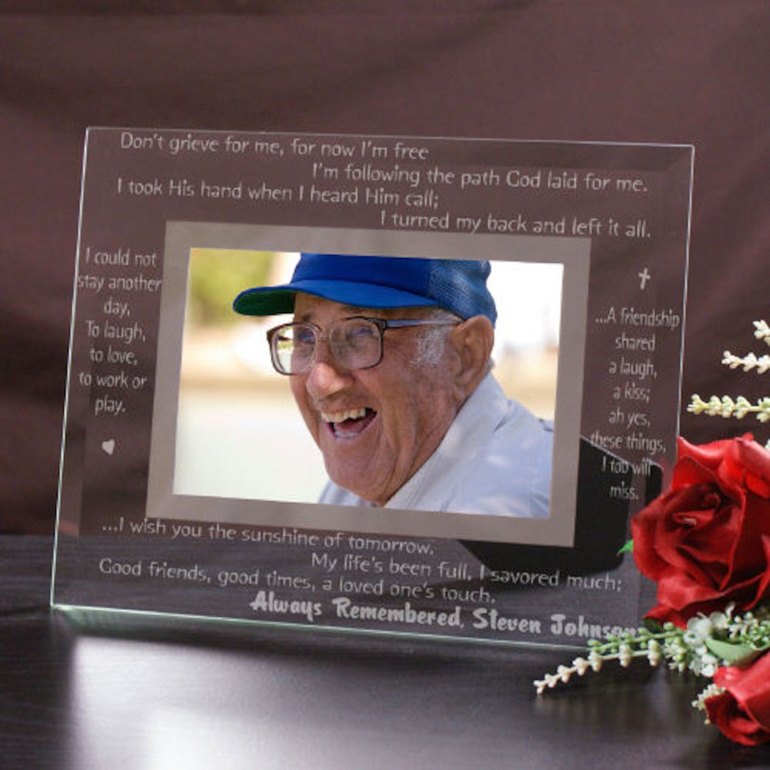 Personalized Engraved Remembrance Glass Picture Frame | Products ...