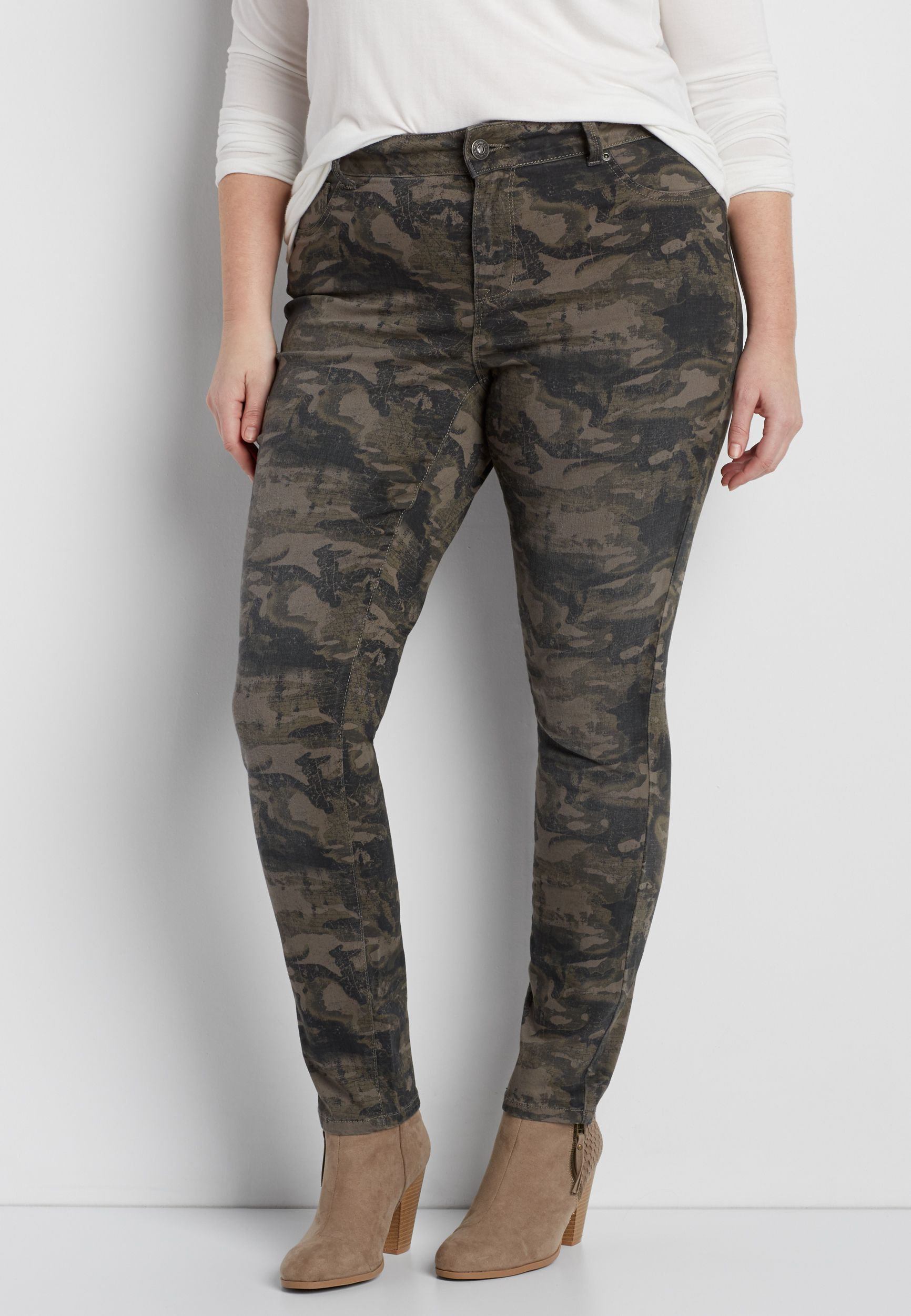 309e1fba203f7 DenimFlex™ plus size jegging in olive green camo print (original price,  $39.98) available at #Maurices