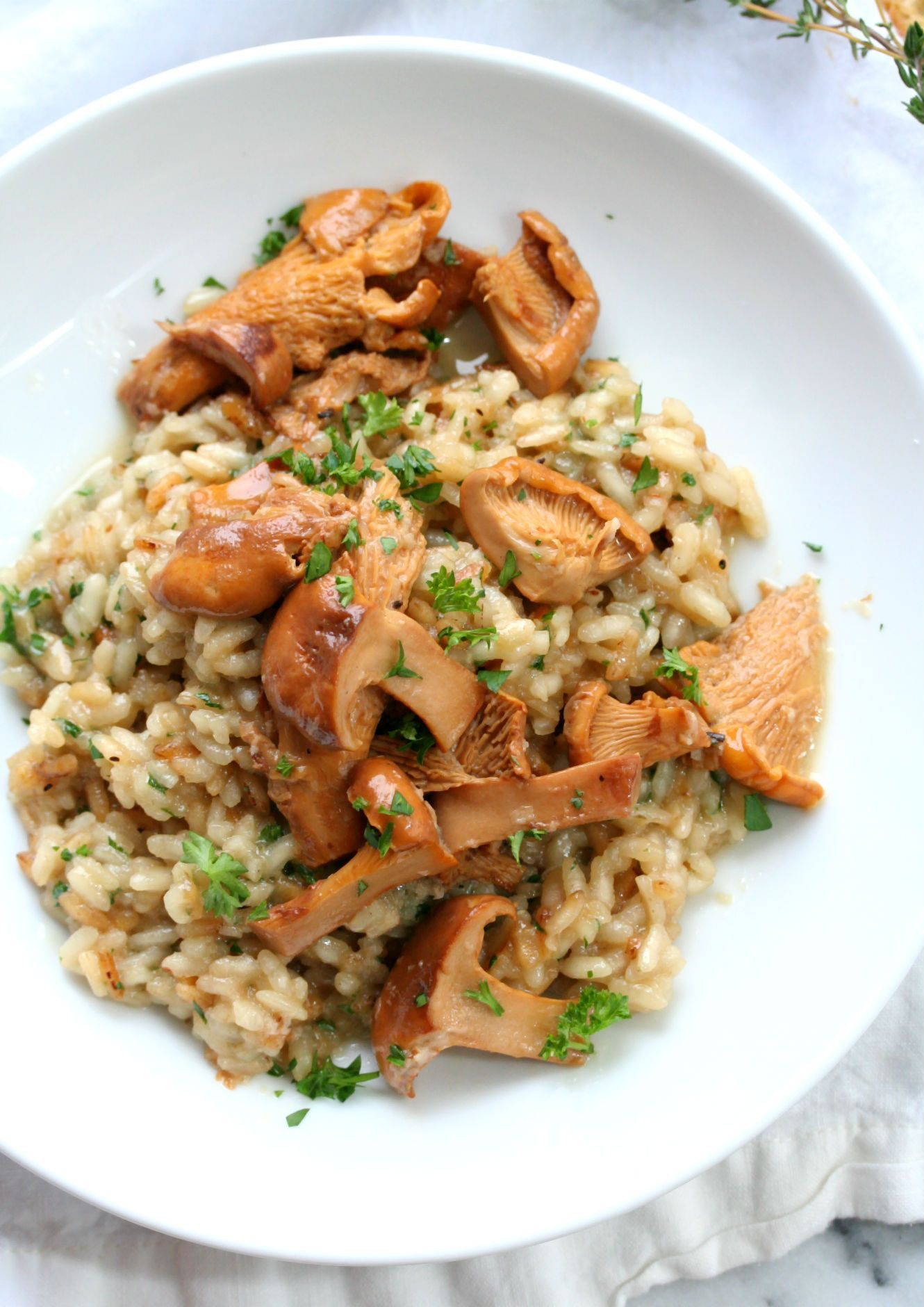 Chanterelle Mushroom Risotto | Dash of Savory | Cook with Passion