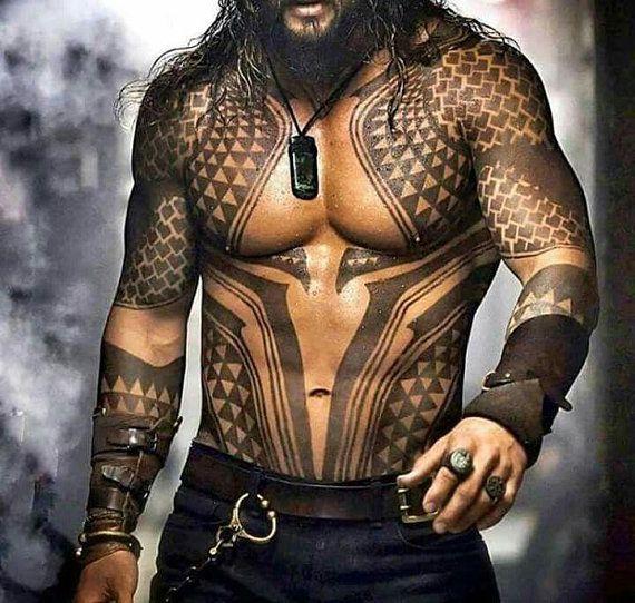 82a833dddd13d Aquaman Temporary Tattoos for Cosplayers   SAKI'S MEN TATS   Samoan ...