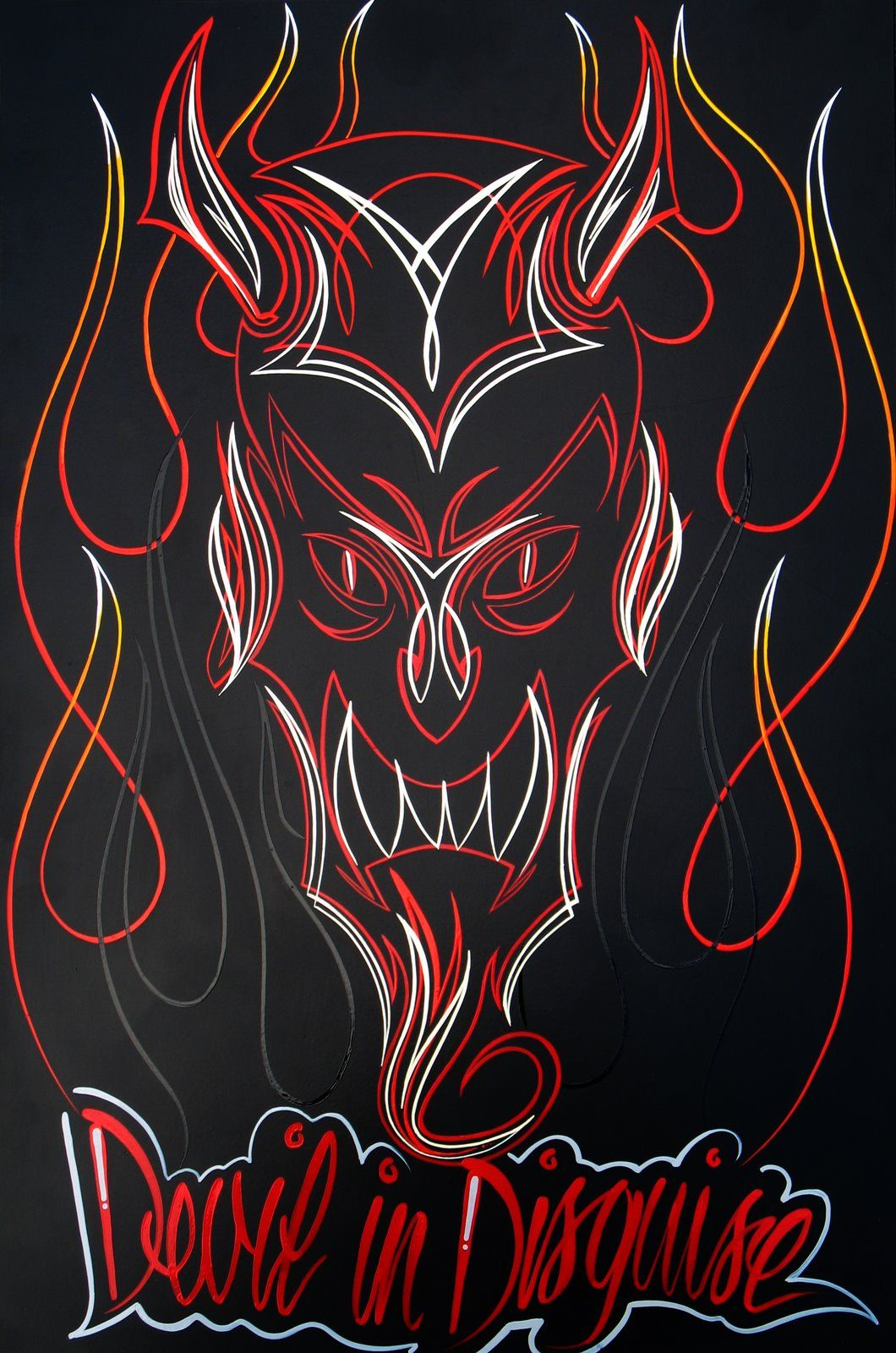 easy pinstriping designs | Pinstripe Flames I like the multicolored ...