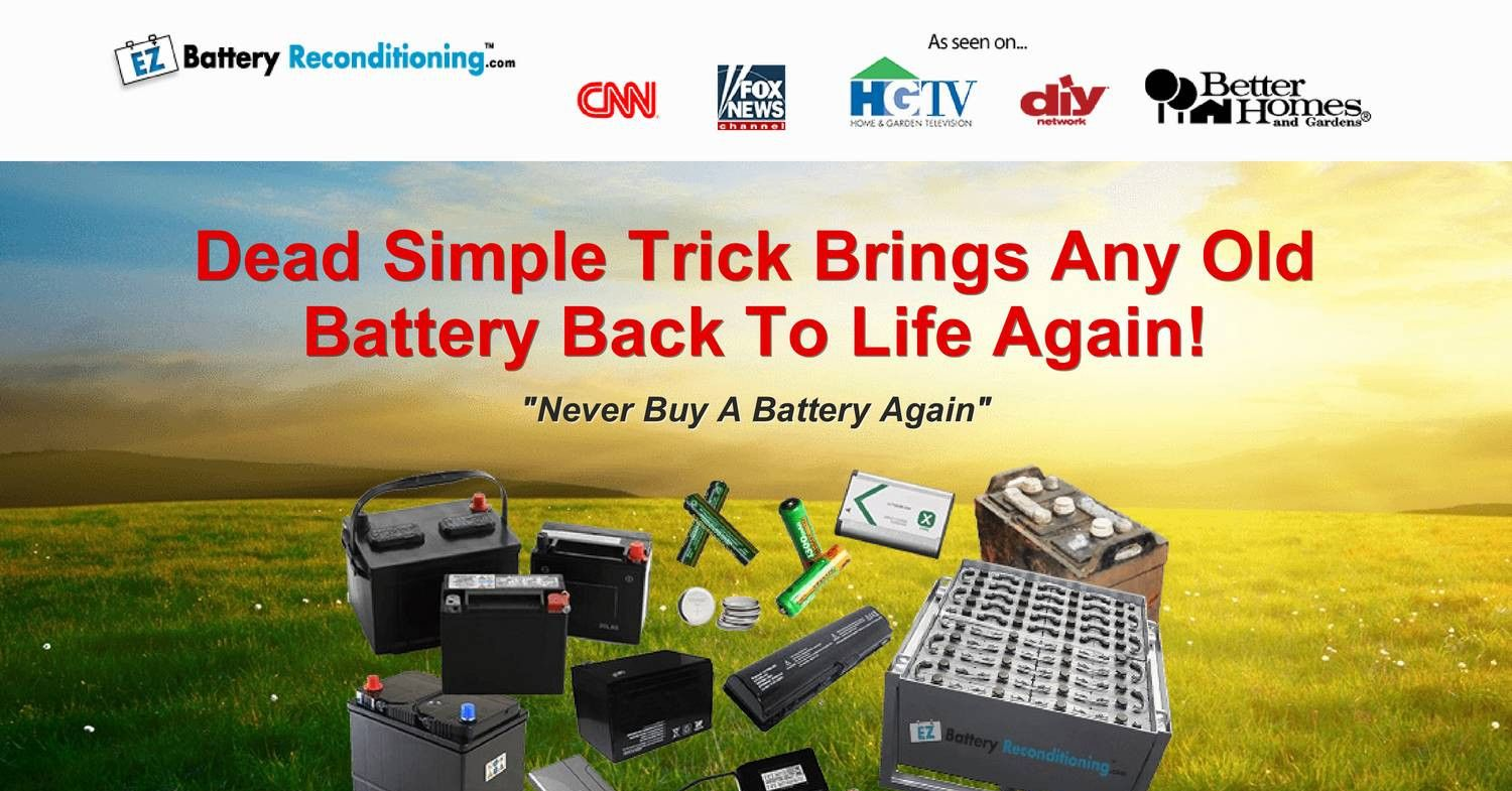 How to recondition batteries at home Ez Battery