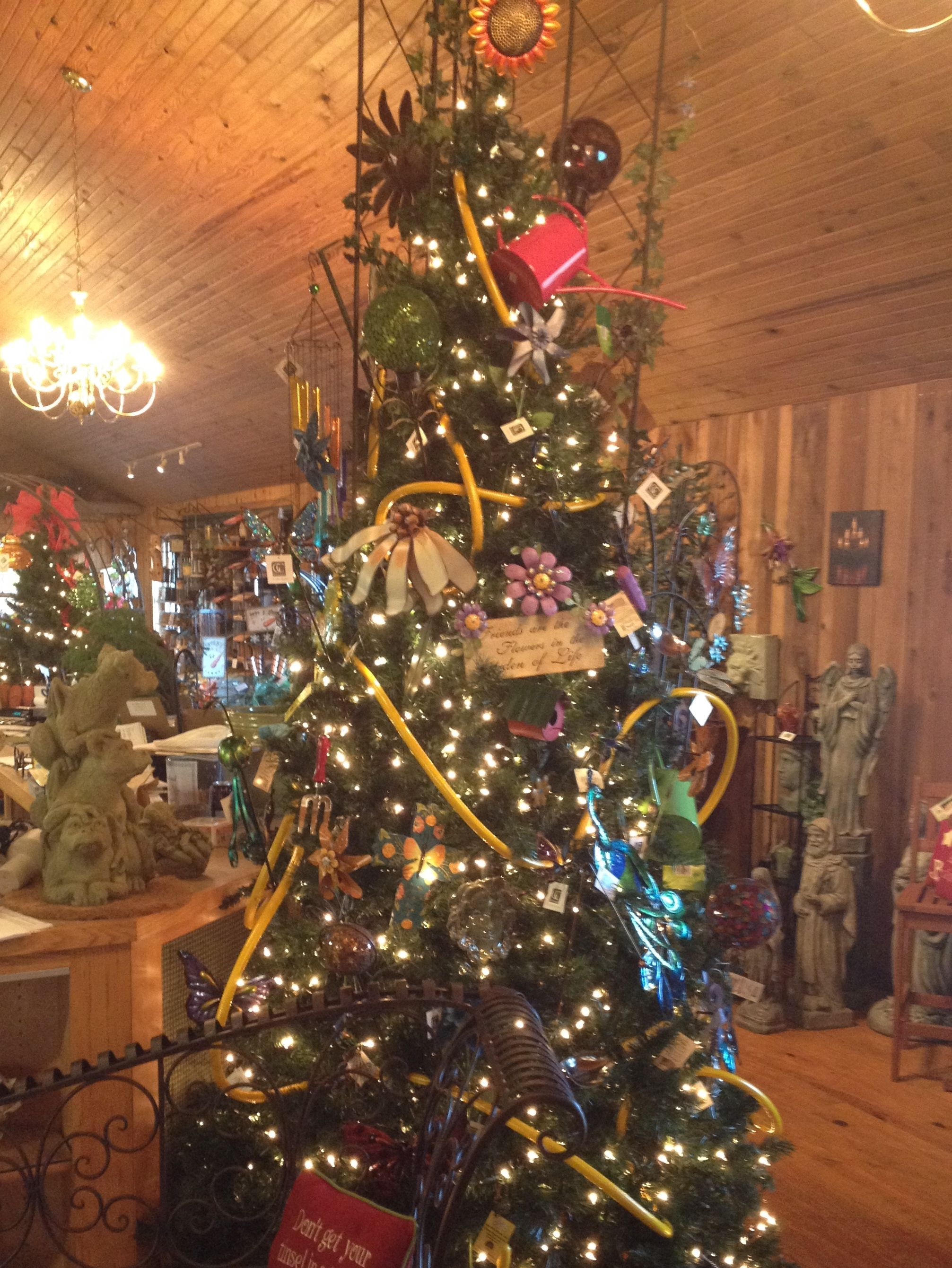 This amazing Christmas tree comes from Wischmeier Nursery in Columbus, IN. Decorated with ...