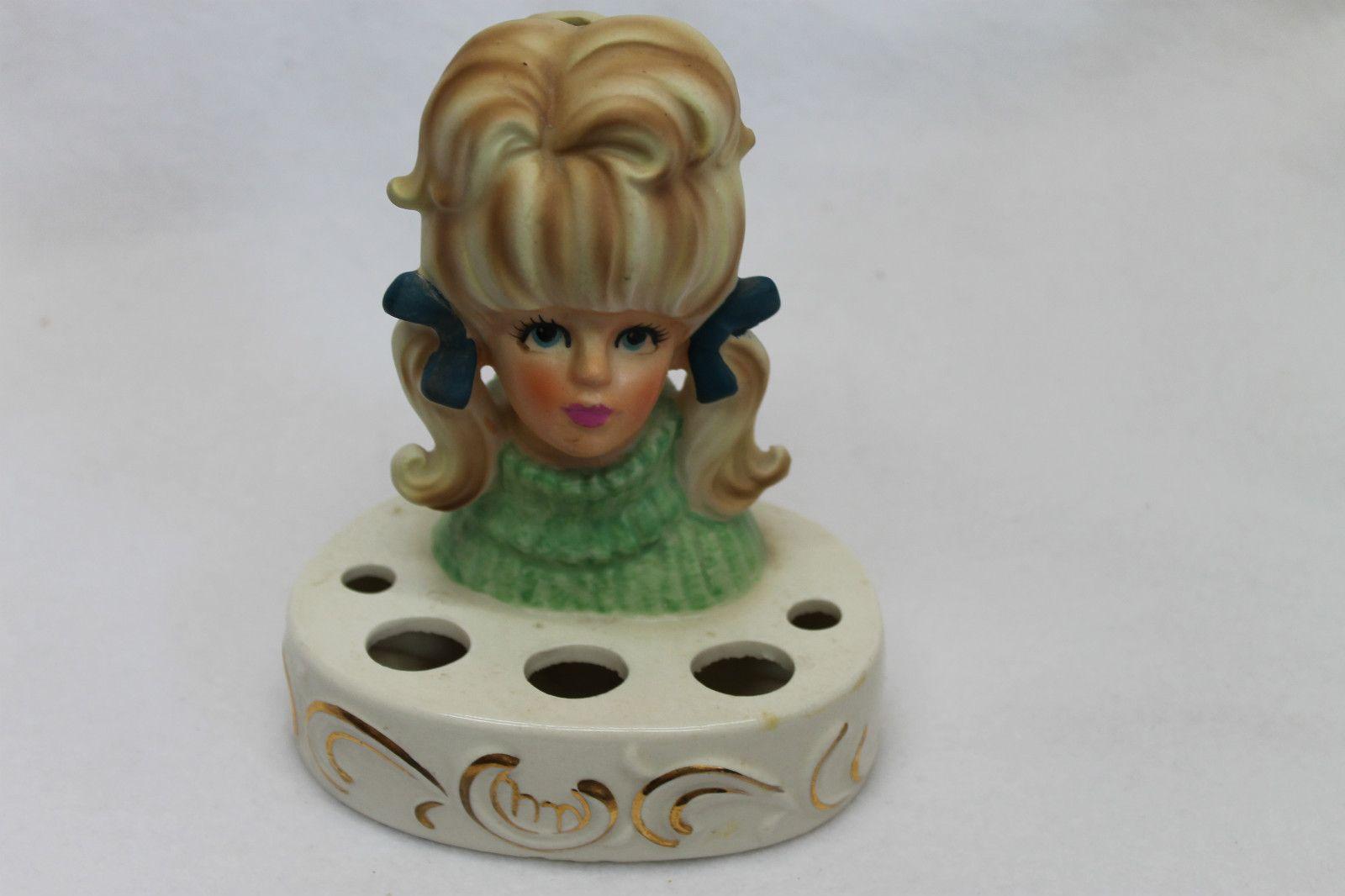 Young girl head vase lipstick holder headvase 3 pinterest vintage young girl head vase lipstick holder unmarked e reviewsmspy