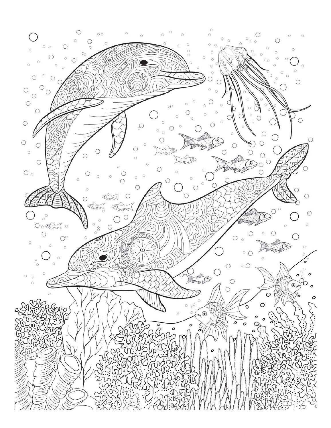 Oceana Adult Coloring Book Twenty Creative And Stress Relieving Pages For Adults Inspired From The Amazing Underwater World Of Oceans