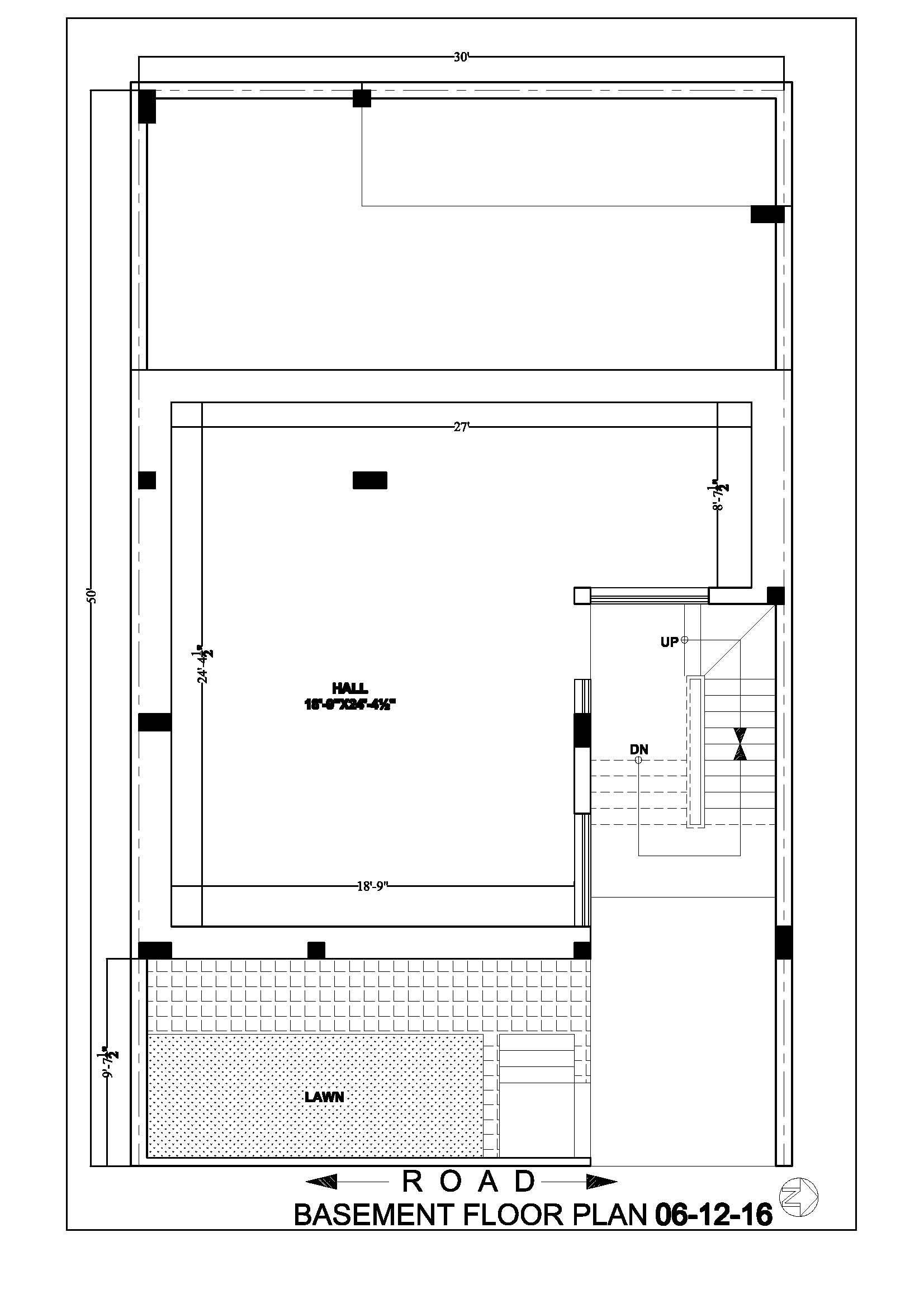 30 50 Basement Plan House Map Basement House Plans House Plans