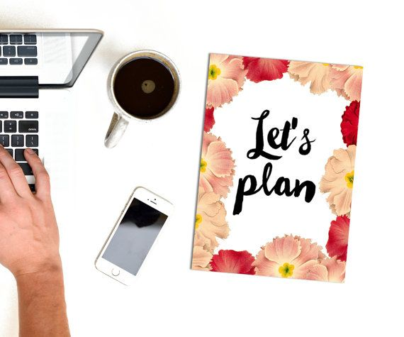 Planner Cover Page A4 Lets Plan Printable Diary By PlansOfHeart