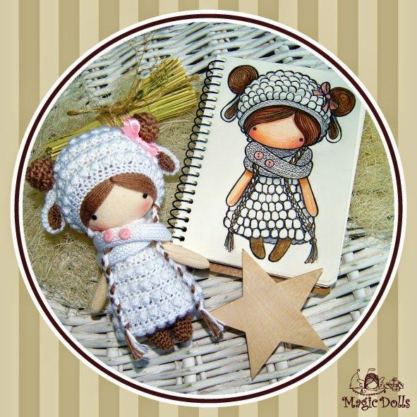 Crochet Dolls Hat Pattern : magicdolls: Ma Petite Poupee - Lamb Yarny Things ...