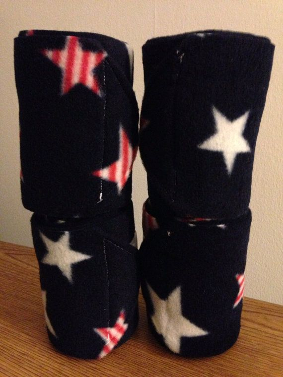 NEW set of 4 navy blue with white stars polo wraps horse//pony leg wraps