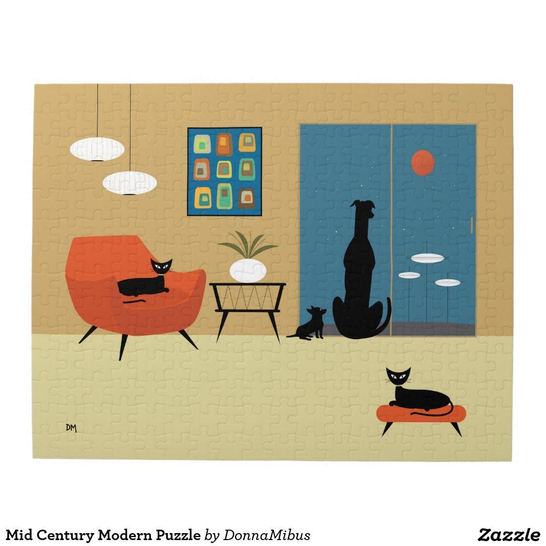 Mid Century Modern Puzzle   Mid Century Modern   Pinterest   Mid ...