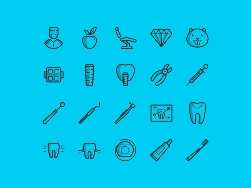 20 free dental icons | Icons | Free dental, Vector icons, Medical icon