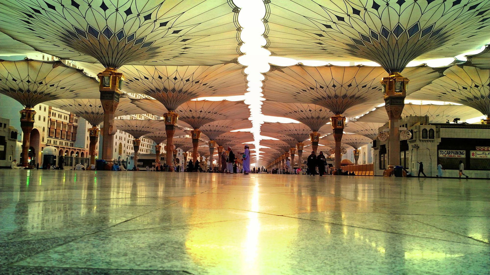 Beautiful view during sunrise in Madinah.
