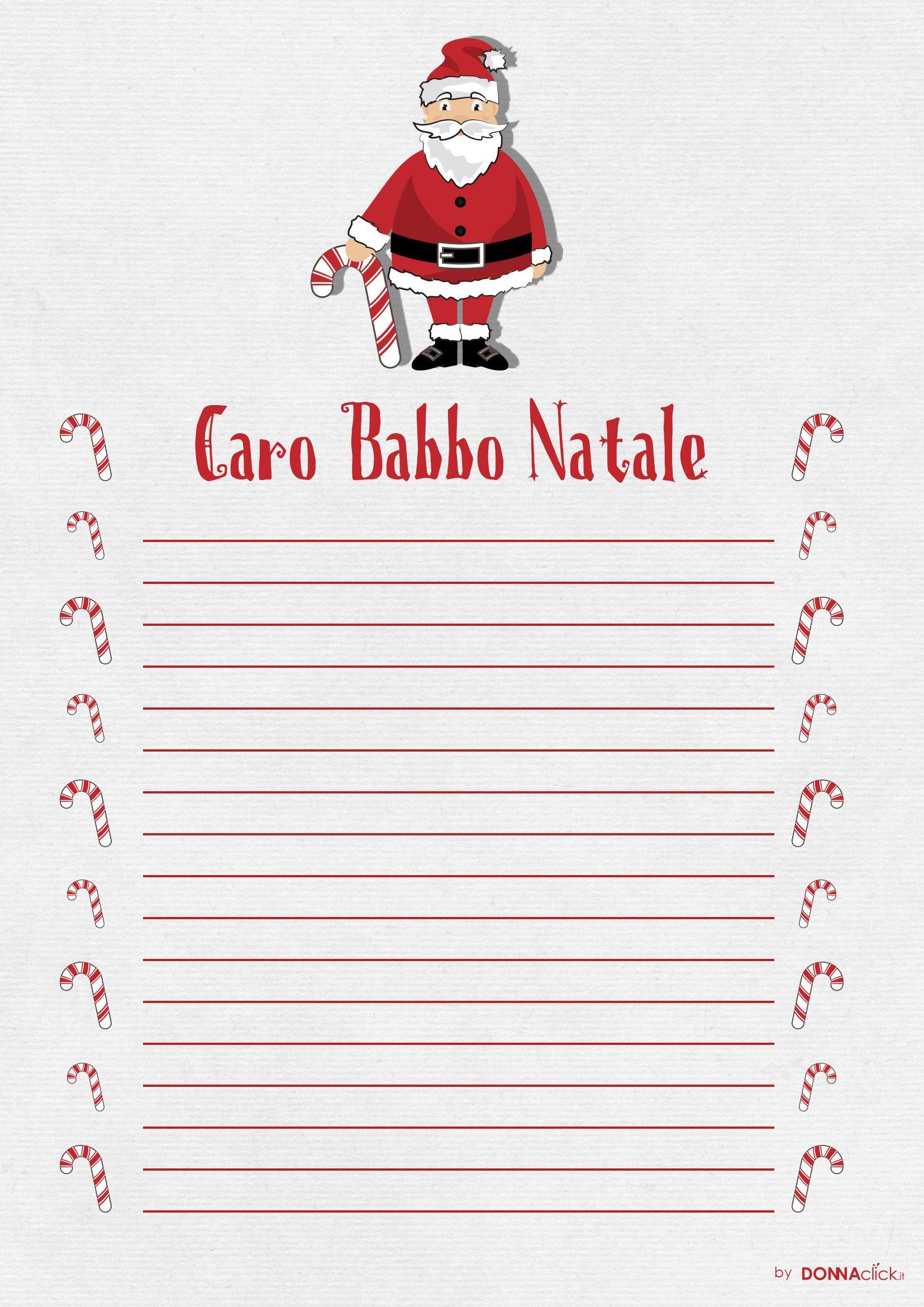 Babbo Natale Letterine.Letterina Da Stampare E Compilare Per Babbo Natale Lettere Di