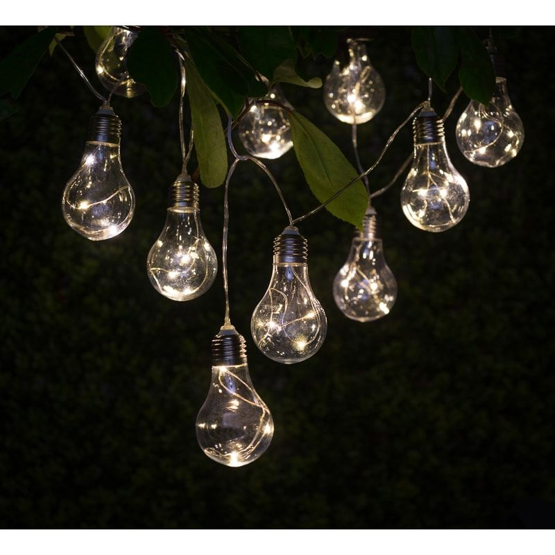 Solar Light Bulb String Lights These Contemporary Light Bulb String Lights  Will Add A Warm Glow, As Well As Style To Your Garden. Solar Lights At Bu0026M