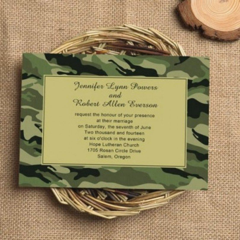 Camo Wedding Invitations Wedding Invitation Kits Simple Wedding Invitations