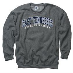 3e4b916b2 East Tennessee State University Buccaneers College Basics Crew Sweatshirt