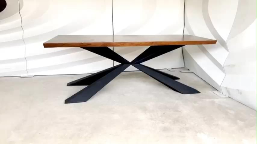Metal Table Legs & furniture Base for Live Edge Top, River Table, Dining Table, Epoxy Resin Table