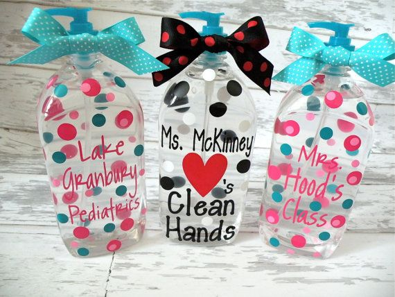 Personalized Soap Or Hand Sanitizer Love The Middle One Diy