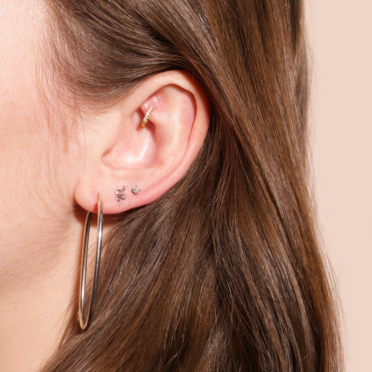 d660ffb10 Tiny Silver Snake Earrings in 2019 | BLING BLING | Earrings, Snake ...
