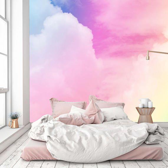 Best Removable Nursery Wallpaper Mural Peel Stick Cloud 640 x 480