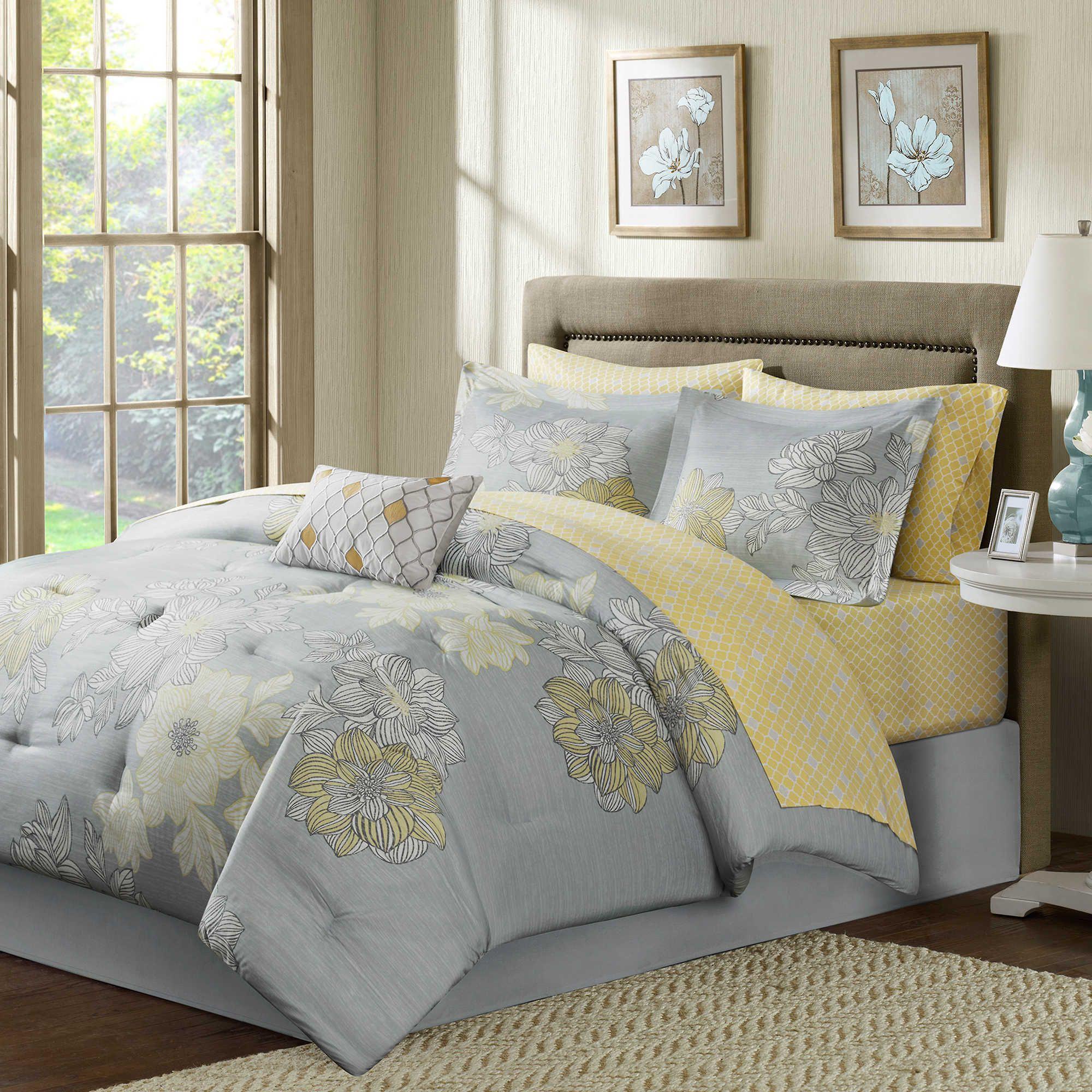 Madison Park Avalon 9 Piece Comforter Set In Grey Master