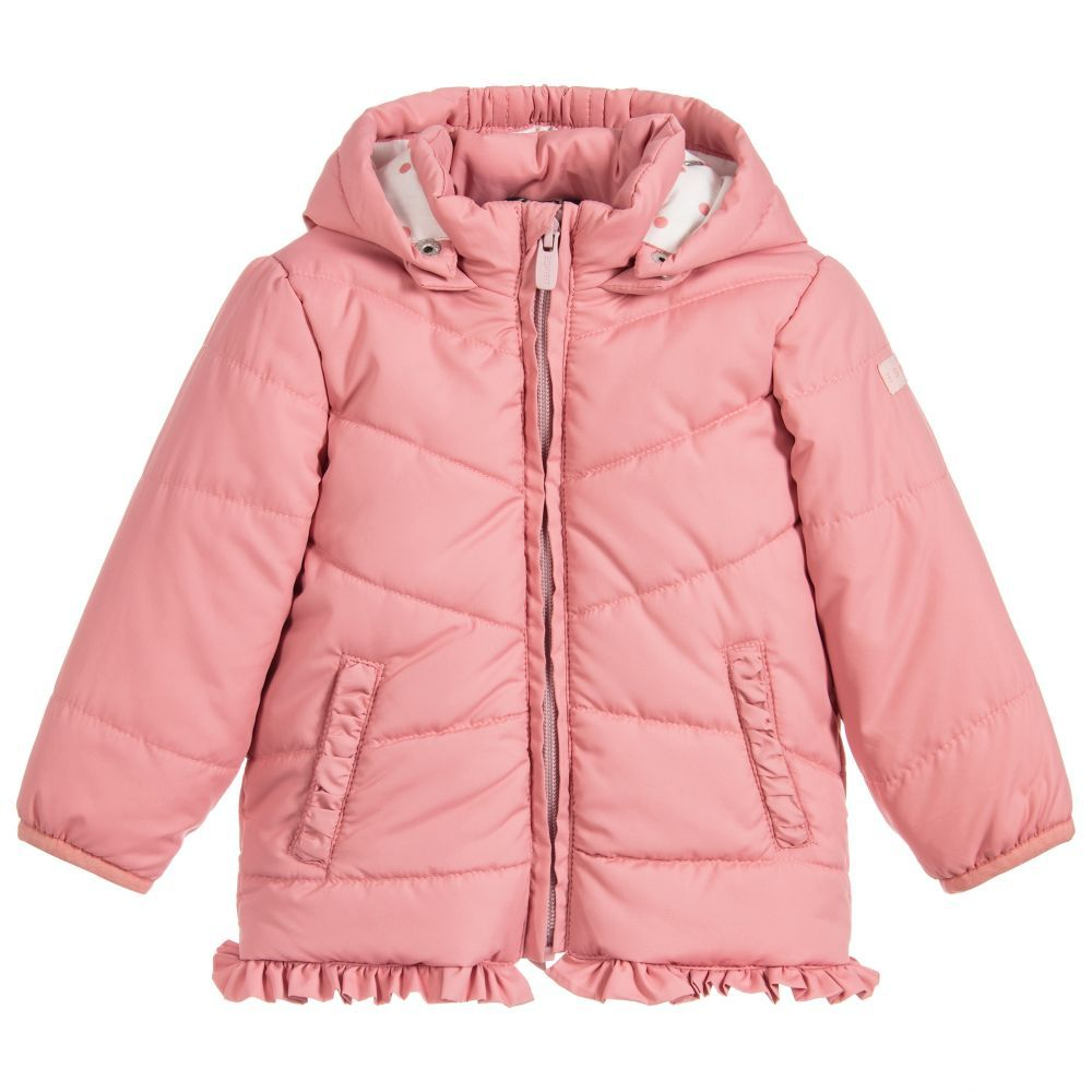 07f822a6f Baby Girls Pink Puffer Coat for Girl by Esprit. Discover more ...
