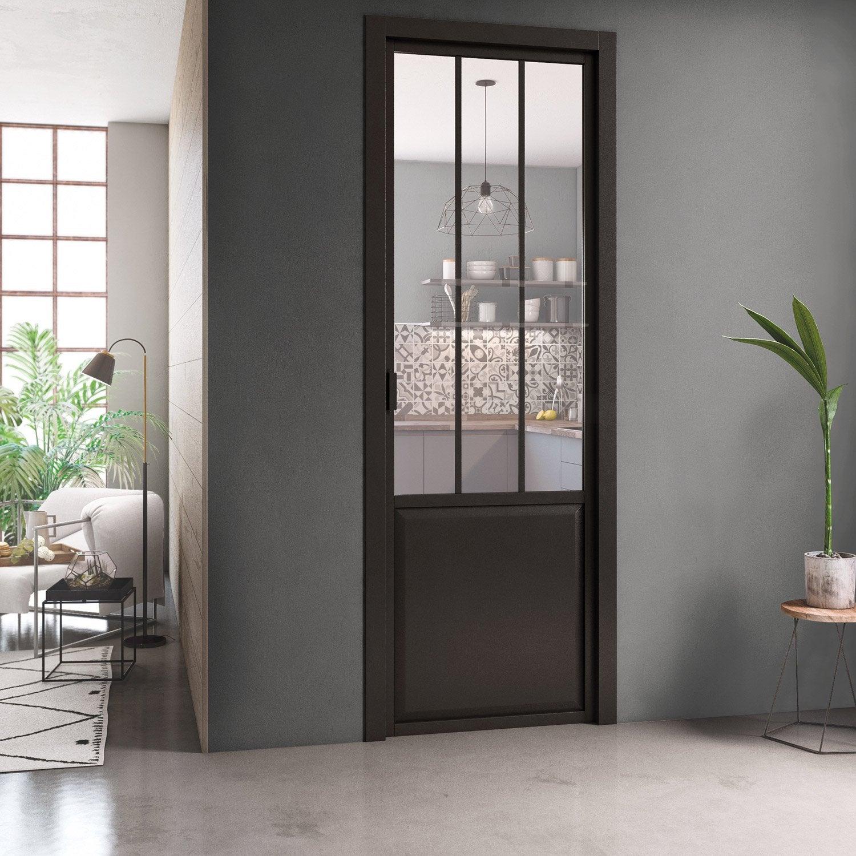 Bloc Porte Fin De Chantier Atelier Vitre Atelier Noir H 220 X L 73 Cm P Gauche En 2020 Avec Images Atelier Noir Bloc Porte Vitre Atelier