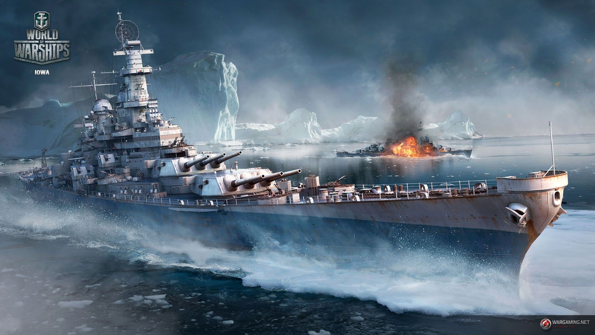 Uss Iowa World Of Warships World War Ii Battleships Iceberg