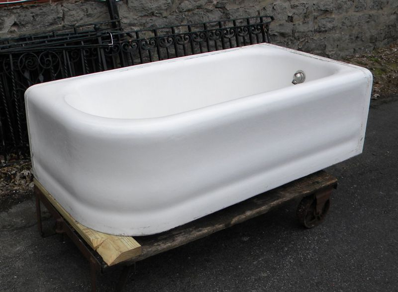 Via Bklyn Contessa 1920s Apron Tub Free Standing Bath Tub Tubs For Sale Cast Iron Tub Cast iron bath tub for sale