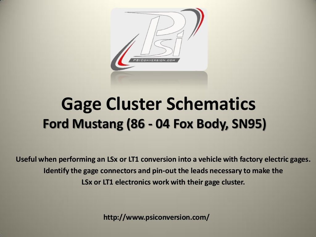 gage cluster schematics ford mustang 86 04 for lsx or lt1 conversion by psiconversion [ 1024 x 768 Pixel ]
