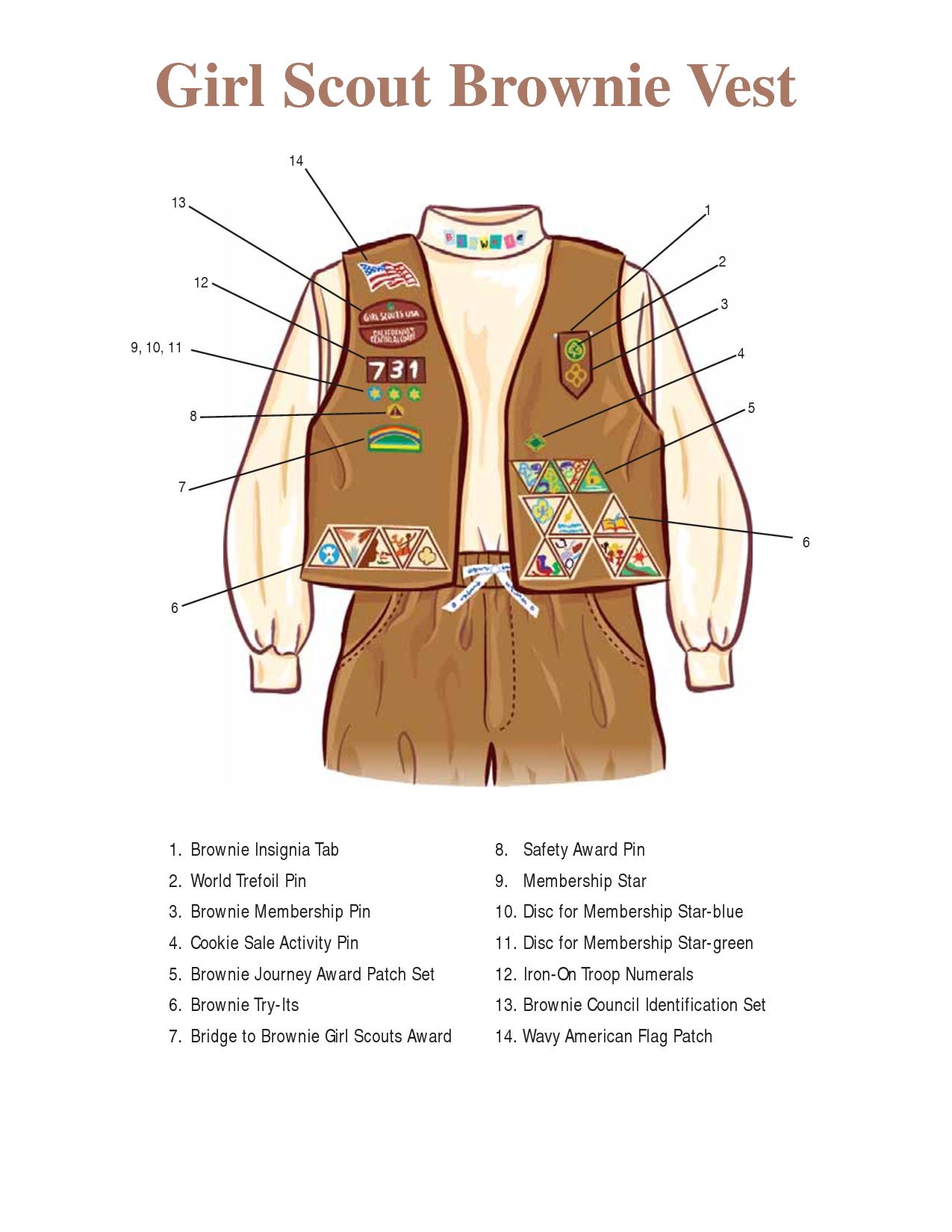Worksheet Brownie Vests brownie vest layout girl scouts pinterest brownies and layout
