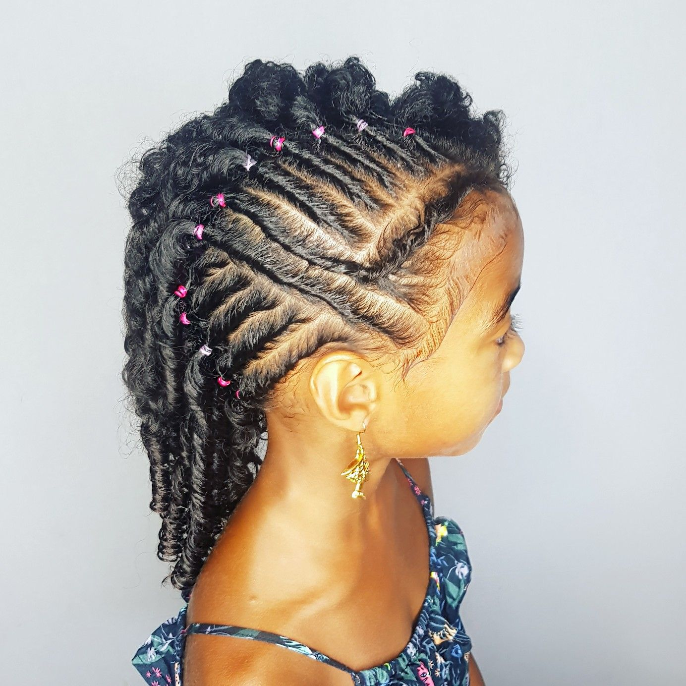 Tuck and roll hairstyles for curly little girls janelleus
