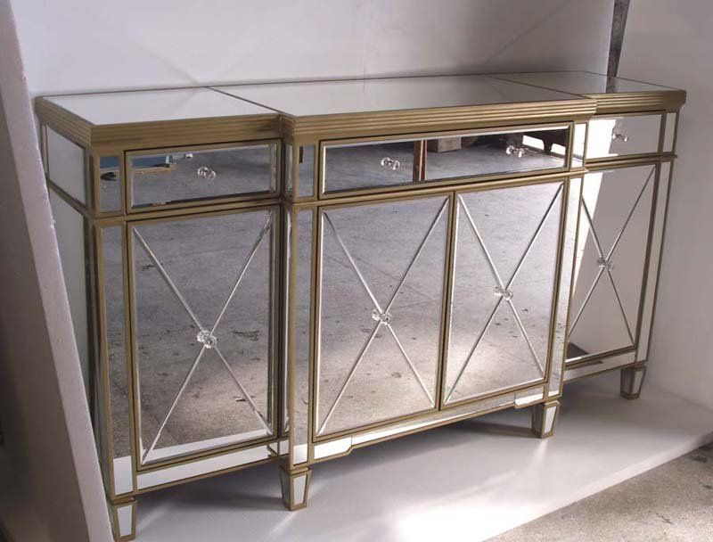 Mr 401062b Glass Mirrored Cabine T Buffet Mirrored