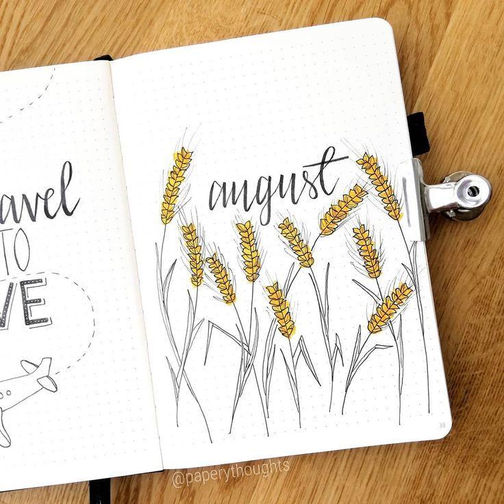 Mein Geburtstagsmonat ist da! Alle Felder in Finnland werden bald schön goldgelb sein, also ... #septemberbulletjournalcover