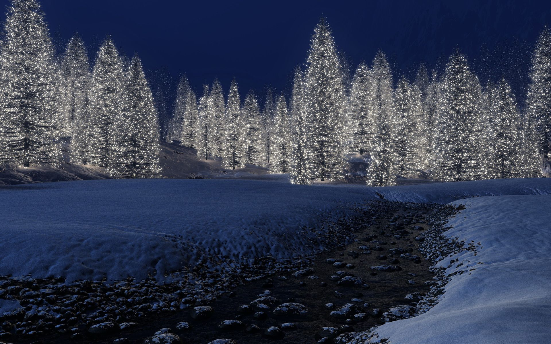 Beautiful Magical Snow Scene - , Forest, Happy New Year,