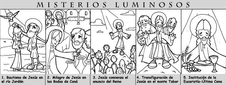 Dibujos Para Catequesis Misterios Luminosos Del Rosario Religión