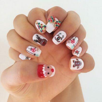 50 surprisingly cute christmas nail art designs  diy