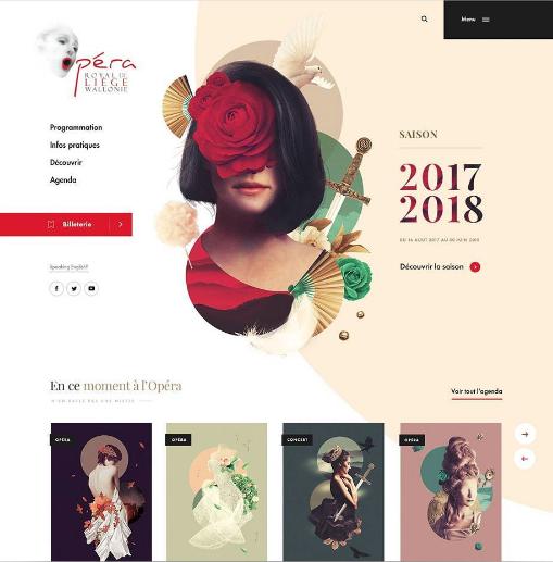 @creativroom (Instagram) - Really cool Opera Royal de Wallonie web Design by Dogstudio
