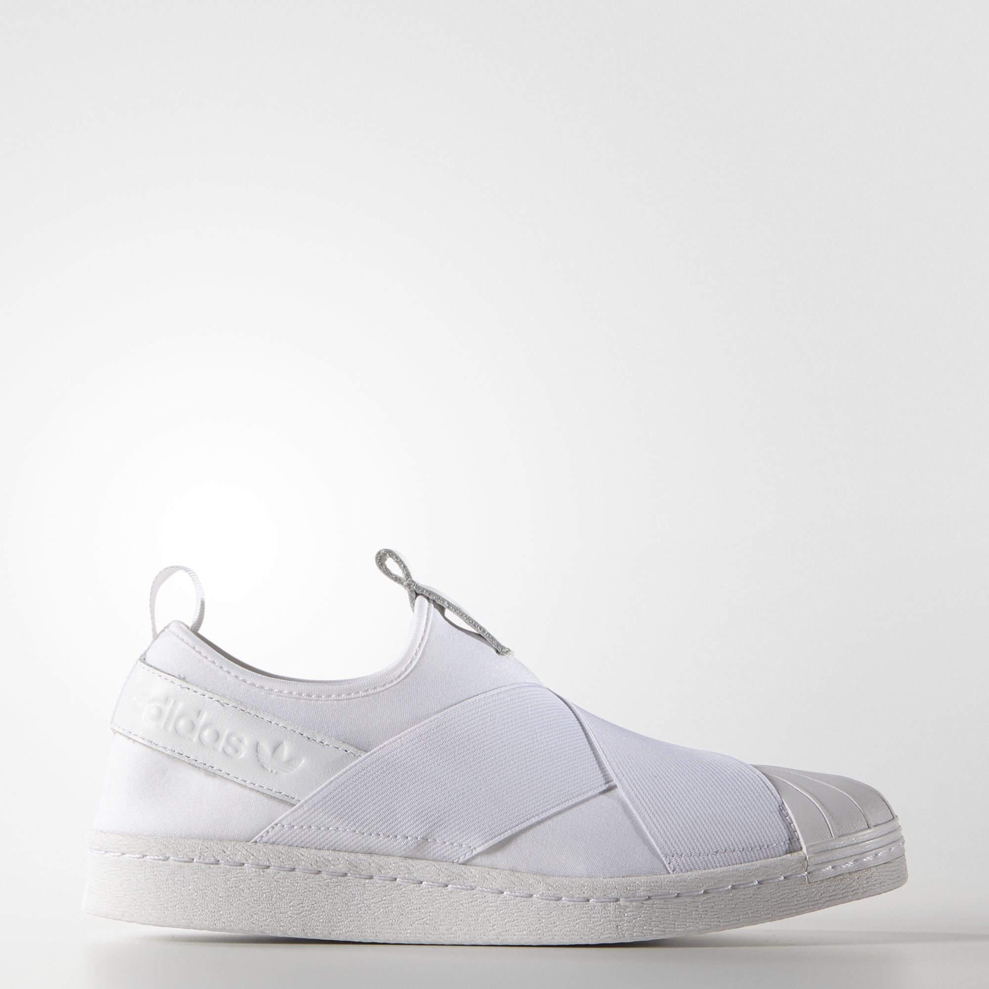 adidas superstar slip on sneakers leather uppers for women