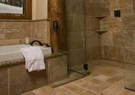 Zero Threshold Showers Rustic Shower Rustic Bathroom Shower