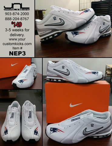 Custom Limited Edition Tom Brady New England Patriots Nike Reax  12 Shoe –  JNL Apparel 0613b7cef